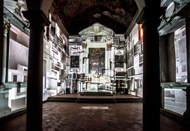 Estate Fiorentina 2017 – Progetto di teatro architettura Nel Chiostro delle Geometrie, Electric Church. Photo A. Bianciardi