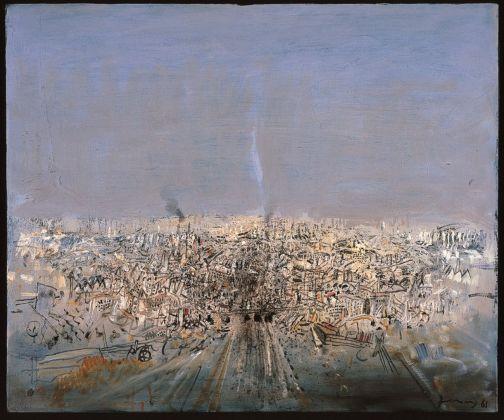 Gianfranco Ferroni, Città, 1961, collezione privata