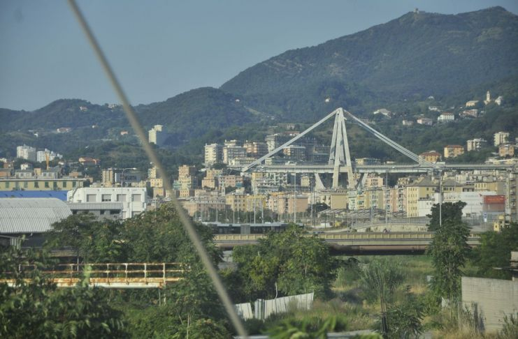 Il ponte Morandi dopo il crollo, Genova 2018, photo Irene Fanizza