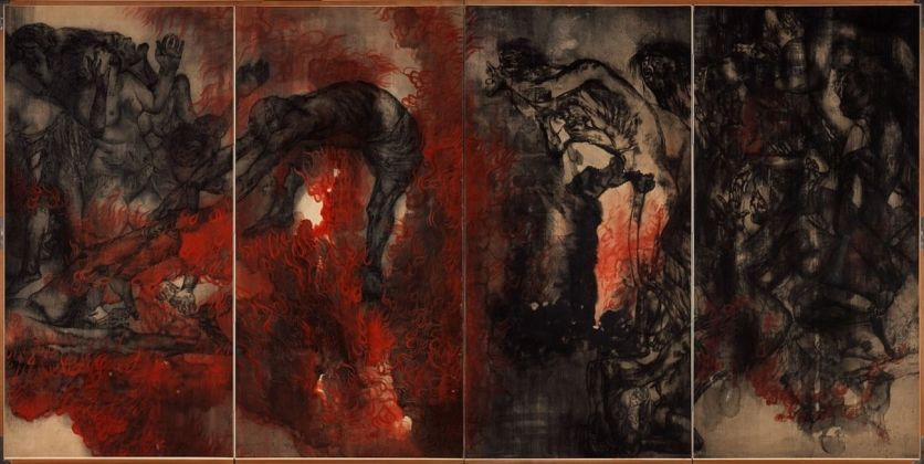 Iri & Toshi Maruki, The Hiroshima Panels. II, Fire, 1950