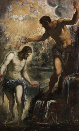 Jacopo Tintoretto, Battesimo di Cristo, 1580 ca. Venezia, San Silvestro
