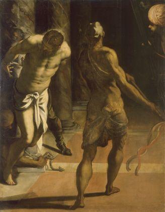 Jacopo Tintoretto, Flagellazione di Cristo, tardi anni '70 del Cinquecento. Collezioni d'arte del Castello di Praga