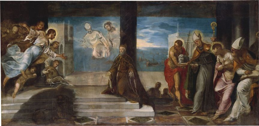 Jacopo Tintoretto, Il doge Alvise Mocenigo presentato al Redentore, 1571 74. New York, The Metropolitan Museum of Art