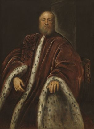 Jacopo Tintoretto, Ritratto di un procuratore di San Marco, 1575:1585. Washington, National Gallery of Art, Samuel H. Kress Collection