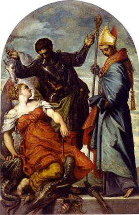 Jacopo Tintoretto, San Giorgio, san Luigi e la principessa, 1552. Venezia, Gallerie dell'Accademia (dal Palazzo dei Camerlenghi)