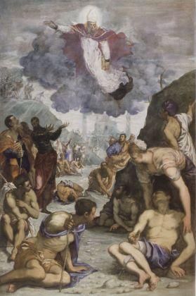 Jacopo Tintoretto, Sant'Agostino risana gli sciancati, 1549 50 ca. Vicenza, Musei Civici, Pinacoteca di Palazzo Chiericati
