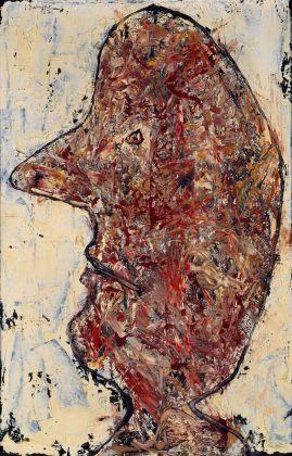 Jean Dubuffet, Noble port de tête, 1954, Olio su tela, 81 x 53,5 cm © 2018 Adagp, Paris_ Siae, Roma