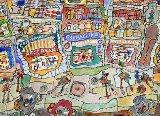 Jean Dubuffet, Ostracisme rend la monnaie, 1961 (maggio), Acquerello su carta, 50 x 66 cm © Adagp, Paris, 2010