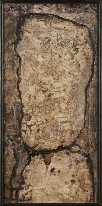 Jean Dubuffet, Raisons complexes, 1952 mars, Olio su faesite, 68 x 33 cm © Jean Dubuffet_Adagp, Paris, 2010