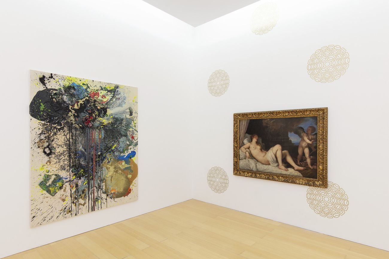John Armleder, Untitled, 2018 : Tiziano Vecellio, Danae