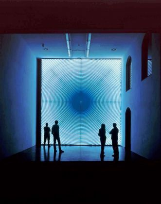 John Armleder Voltes IV, 2004 Light installation 450 x 450 cm Courtesy Gallery Andrea Caratsch