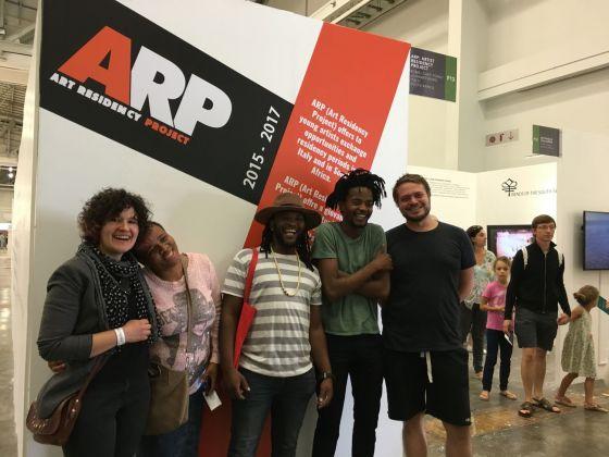 Lo stand di ARP-Art Residency Project alla ICT Art Fair 2017