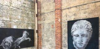 Luca Pignatelli, Musa. Installation view at Galleria Poggiali, Pietrasanta 2018. Courtesy Galleria Poggiali