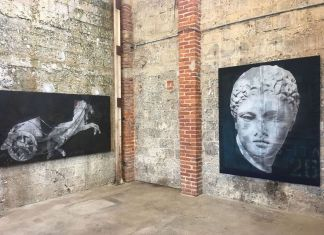 Luca Pignatelli, Musa. Installation view at Galleria Poggiali, Pietrasanta 2018. Courtesy Galleria Poggiali