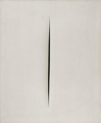 Lucio Fontana, Concetto spaziale. Attese, 1968. Collezione Merlini