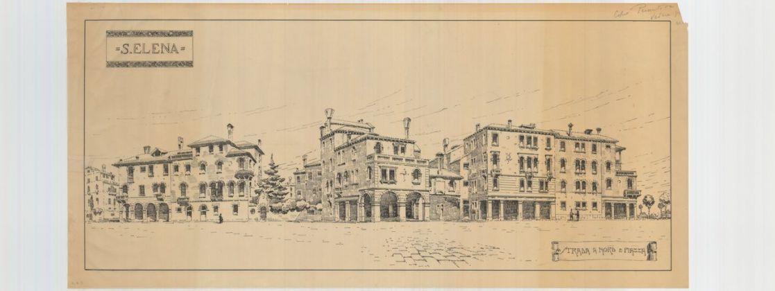 Paolo Bertanza, Sant'Elena – strada a nord e piazza, archivio Ater, Venezia