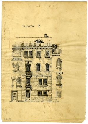 Paolo Bertanza, Sant'Elena, progetto di facciata, archivio Ater, Venezia