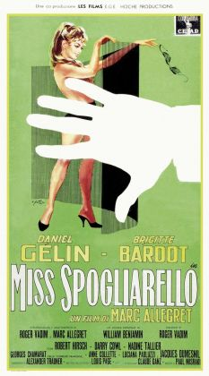 Pittori di Cinema - Arnaldo Putzu - Miss spogliarello - Locandina