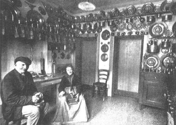 Plinio Donatelli, Cucina caratteristica di appartamento costruito nella prima attività del Comune (anni '90 dell'Ottocento), pubblicata dall'autore nel 1928