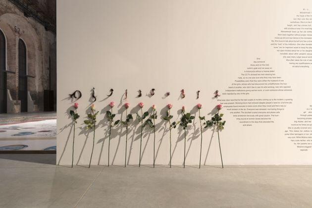 Ramin Haerizadeh, Rokni Haerizadeh, Hesam Rahmanian. Forgive me, distant wars, for bringing flowers. Installation view at OGR, Torino 2018. Photo Andrea Rossetti