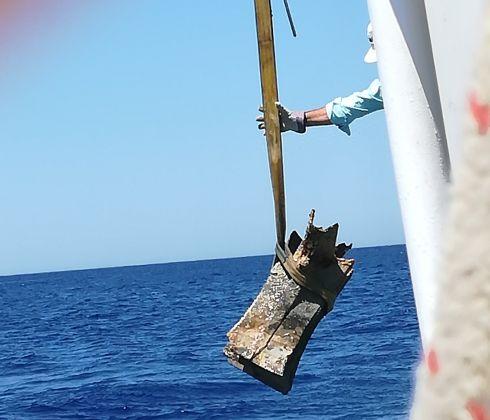 Recupero di un rostro bronzeo nei mari della Sicilia