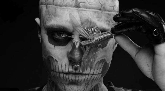 Rick Genest aka Rico the Zombie, still video by The Avant-Garde Diaries (Vimeo)