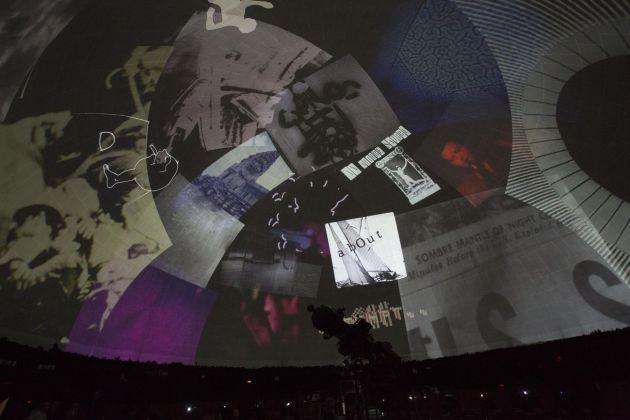 Stan VanDerBeek, Cine Dreams. Cinema of the Mind. Installation view at Civico Planetario Ulrico Hoepli, Milano 2014. Courtesy Fondazione Nicola Trussardi. Photo Marco De Scalzi