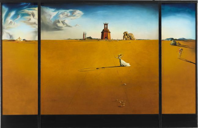 Salvador Dalí_ Landscape with a Girl Skipping Rope, 1936 Museum Boijmans Van Beuningen, Rotterdam, photo Studio Tromp © Salvador Dalí, Fundacio Gala Salvador Dalí, by SIAE 2018