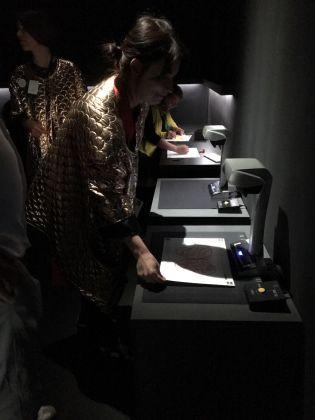 Scanner per i disegni dei visitatori. Ph. Maria Stella Bottai