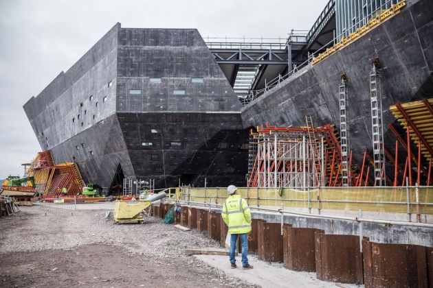 V&A Dundee, dicembre 2017. Photo © RossFraserMcLean. Work in progress