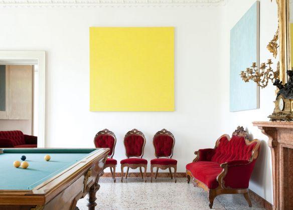 Villa e Collezione Panza, Biliard Room, Untitled by Phil Sims. Photo arenaimmagini.it,2013 © FAI - Fondo Ambiente Italiano