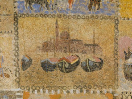Zoran Mušic, Veduta di San Giorgio Maggiore e bragozzi, dettaglio del soffitto. Collezione privata
