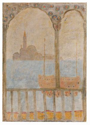 Zoran Music, Bacino di San Marco e isola di San Giorgio, 1950. Collezione privata