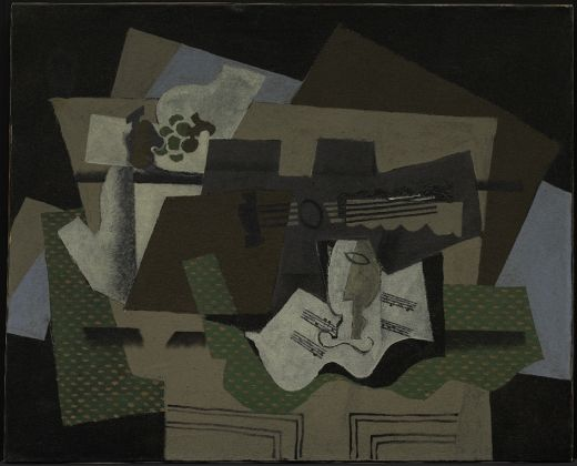 Georges Braque, Guitar, Glass, and Fruit Dish on Sideboard, early 1919, Solomon R. Guggenheim Museum, New York, Thannhauser Collection, Gift, Justin K. Thannhauser Foundation, by exchange 81.2821 © 2018