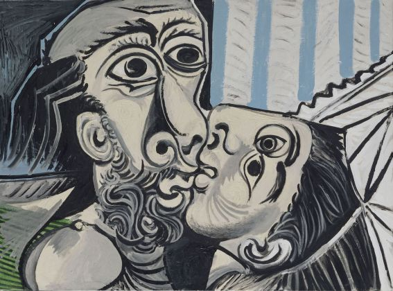 Pablo Picasso, Il bacio, 1969. olio su tela, 97x130 cm Paris, Musée National Picasso. Credito fotografico: © RMN-Grand Palais (Musée national Picasso-Paris) /Jean Gilles Berizzi/ dist. Alinari
