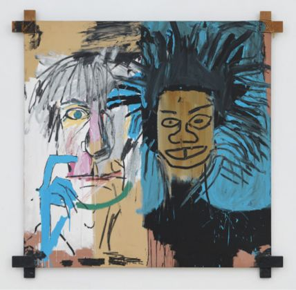 Jean-Michel Basquiat. Dos Cabezas, 1982. Acrylic and oilstick on canvas mounted on tied wood supports. 152.4 x 152.4 x 2.54 cm. Private Collection © Estate of Jean-Michel Basquiat. Licensed by Artestar, New York. Picture: © Robert McKeever