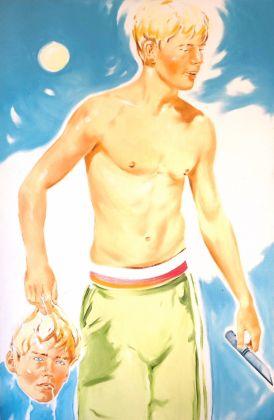 Norbert Bisky, David Couch version, 2005, cm 150x100, olio su tela