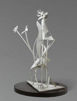 Pablo Picasso, La donna in giardino, 1930, ferro saldato e dipinto in bianco, 206x117x85 cm Paris, Musée National Picasso. Credito fotografico:© RMN-Grand Palais (Musée national Picasso-Paris) /Adrien Didierjean/ Mathieu Rabeau/dist. Alinari