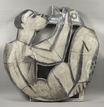 Pablo Picasso, Suonatore di flauto doppio seduto, 1958 terracotta, 126,5x125,5x2 cm Paris, Musée National Picasso. Credito fotografico:© RMN-Grand Palais (Musée national Picasso-Paris) /Gérard Blot/ dist. Alinari