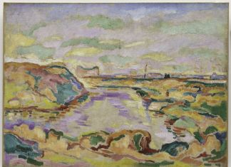 Georges Braque, Landscape near Antwerp, 1906, Solomon R. Guggenheim Museum, New York Thannhauser Collection, Gift, Justin K. Thannhauser 78.2514.1 © 2018 Artists Rights Society (ARS), New YorkADAGP, Paris