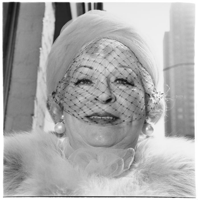 DIANE ARBUS Woman with a veil on Fifth Avenue, N.Y.C. 1968 © The Estate of Diane Arbus