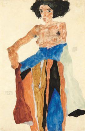 Egon Schiele. Moa Gouache, aquarelle et crayon sur papier, collezione privata Londra