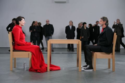 Ulay with Marina The Artist is Present 2010 MoMA