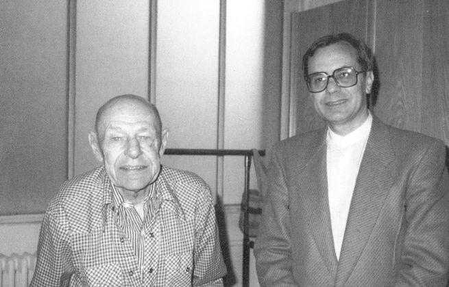1982 Enzo Cannaviello e Jean Dubuffet nel suo studio a Parigi