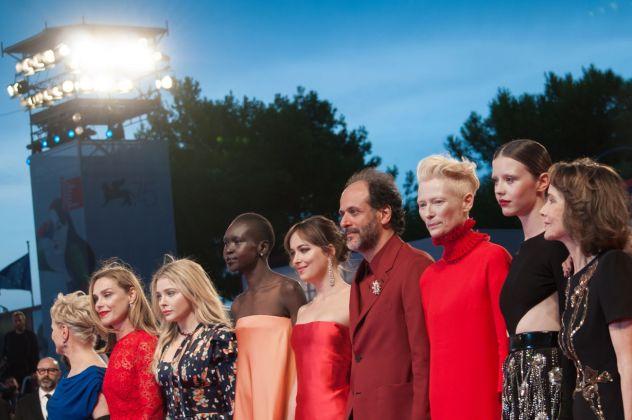 75. Mostra del Cinema di Venezia. Il cast di Suspiria di Luca Guadagnino sul red carpet. Photo Irene Fanizza