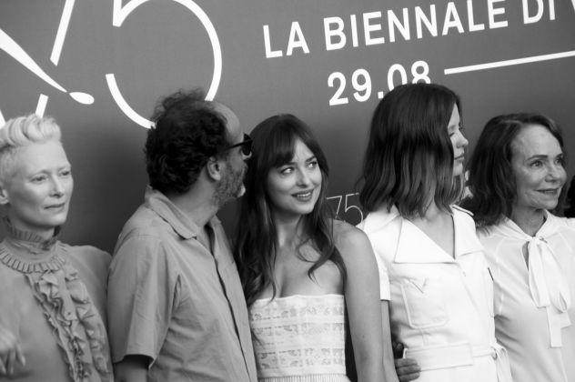 75. Mostra del Cinema di Venezia. Il cast di Suspiria di Luca Guadagnino. Photo Irene Fanizza