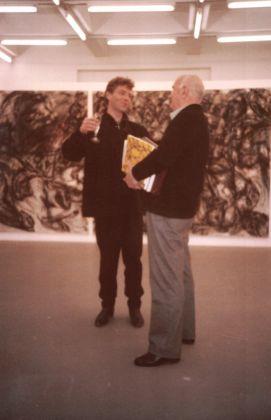 1987 Martin Disler e Giovanni Testori in galleria
