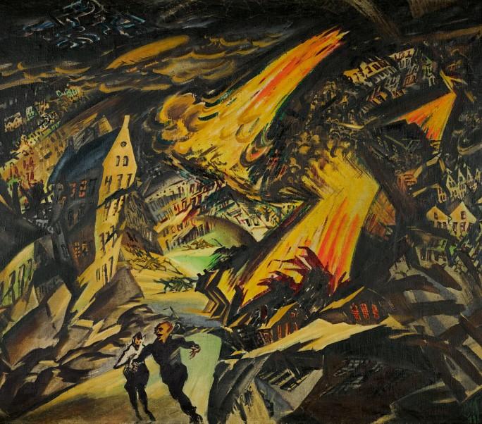 Apokalyptische Landschaft (Paesaggio apocalittico) di Ludwig Meidner