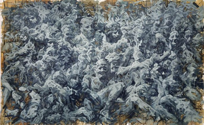 Adam Bota, Rasterfahndung, 2014. Photo Credit Galerie Selected Artists