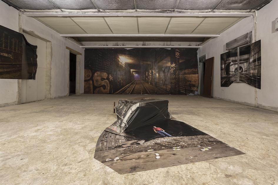 Alex FaKso, Unseen Places, vista della mostra, foto di Marcello Bocchieri